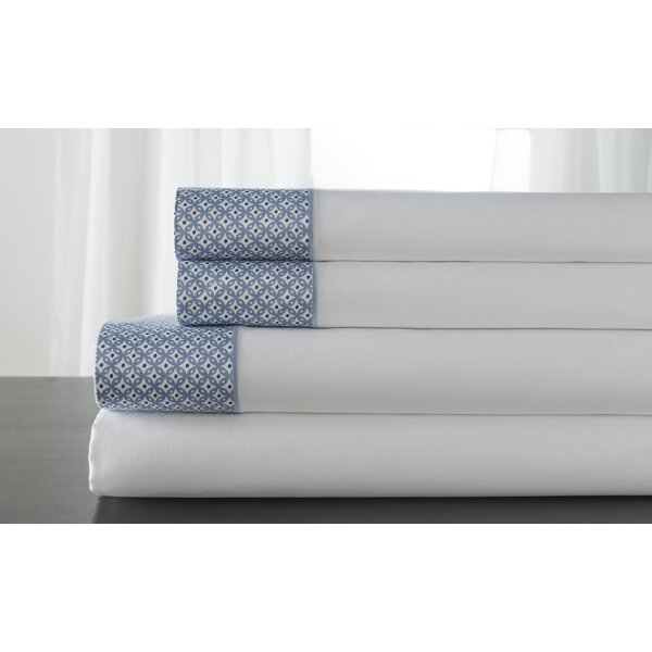 Adara 400 Thread Count 100% Cotton Sheet Set by Elite Home Products